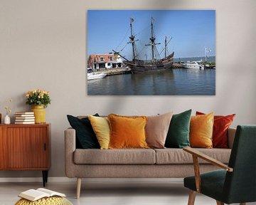 historische driemaster in Volendamse haven van Jeroen Franssen