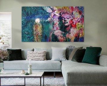 Chagall meets Monroe van Rudy & Gisela Schlechter