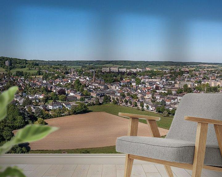 Sfeerimpressie behang: Luchtfoto van Vaals in Zuid-Limburg van John Kreukniet