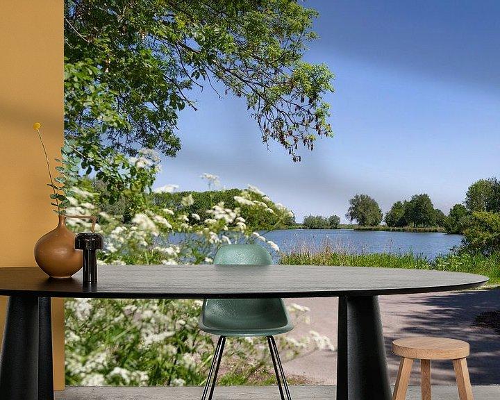Sfeerimpressie behang: Mooi, Nederlands landschap in de lente van Miranda van Hulst