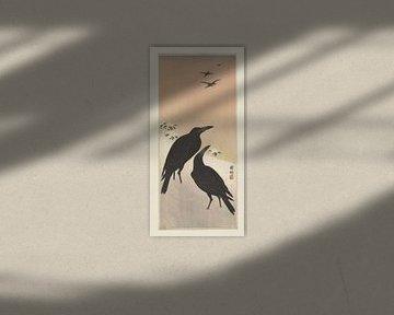 Corbeaux dans la neige, Ohara Koson