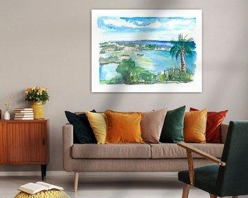 Cruz Bay Amerikaanse Maagdeneilanden, zeegezicht op Saint John van Markus Bleichner