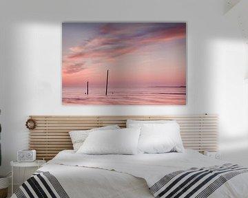 Coucher de soleil à la plage sur Halma Fotografie