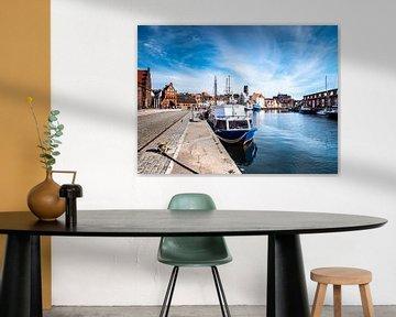 Oude haven in de stad Wismar aan de Oostzee van Animaflora PicsStock
