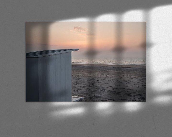 Beispiel: Strandhaus im letzten Abendlicht in Ostende von Rik Verslype