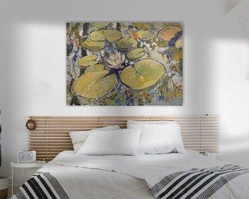 Waterlelies #022021 van Nop Briex