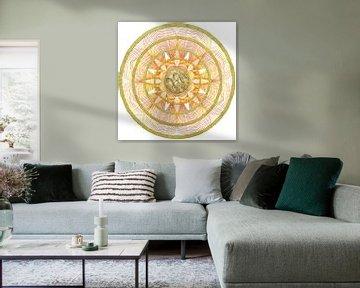 Mandala met CJK zielensymbool