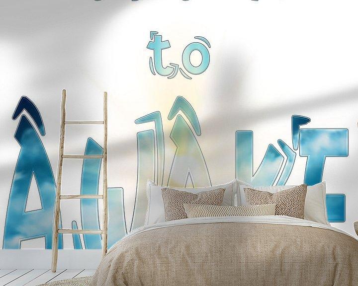 Beispiel fototapete: Its Time to AWAKE -- es ist Zeit zu erwachen / aufzuwachen von ADLER & Co / Caj Kessler