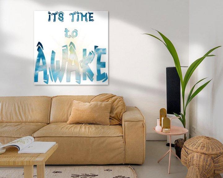 Beispiel: Its Time to AWAKE -- es ist Zeit zu erwachen / aufzuwachen von ADLER & Co / Caj Kessler