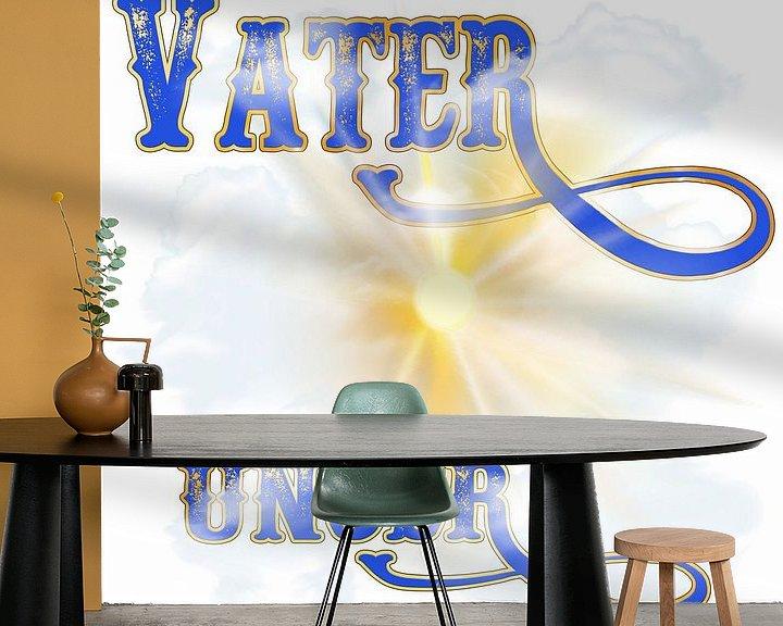 Beispiel fototapete: VATER UNSER von ADLER & Co / Caj Kessler