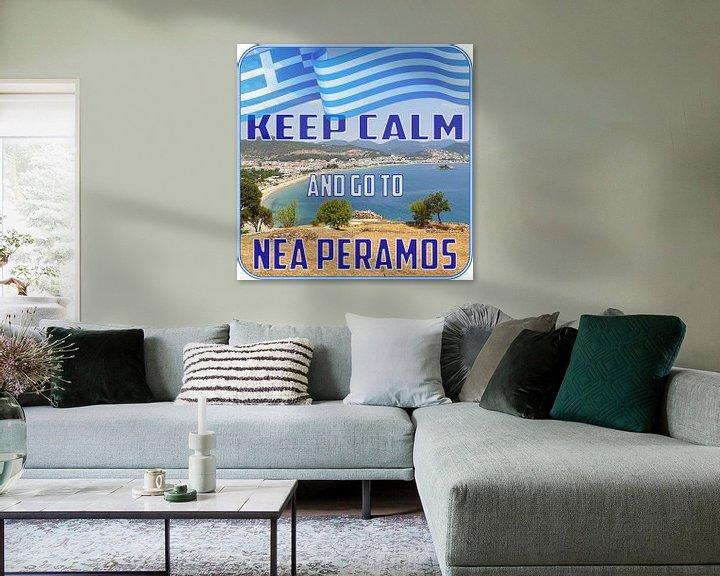Beispiel: Keep CALM and go to Nea Peramos - Kavala - Greece von ADLER & Co / Caj Kessler