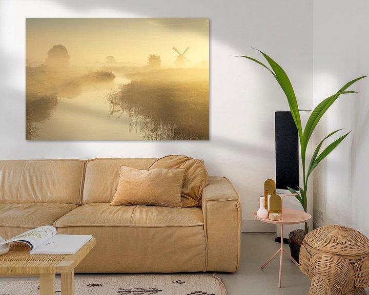 Sfeerimpressie: Mist bij de Noordermolen van Ron Buist