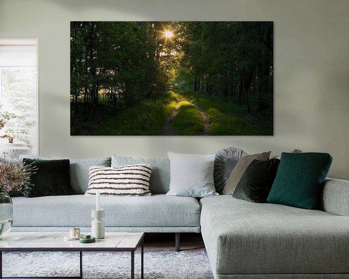 Sfeerimpressie: Sunset Forest van Art Wittingen