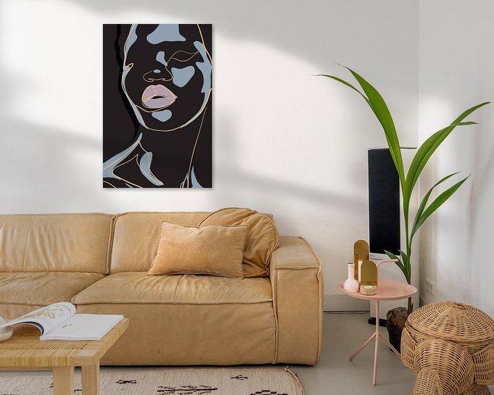 Impression: She - Black Background sur Marja van den Hurk