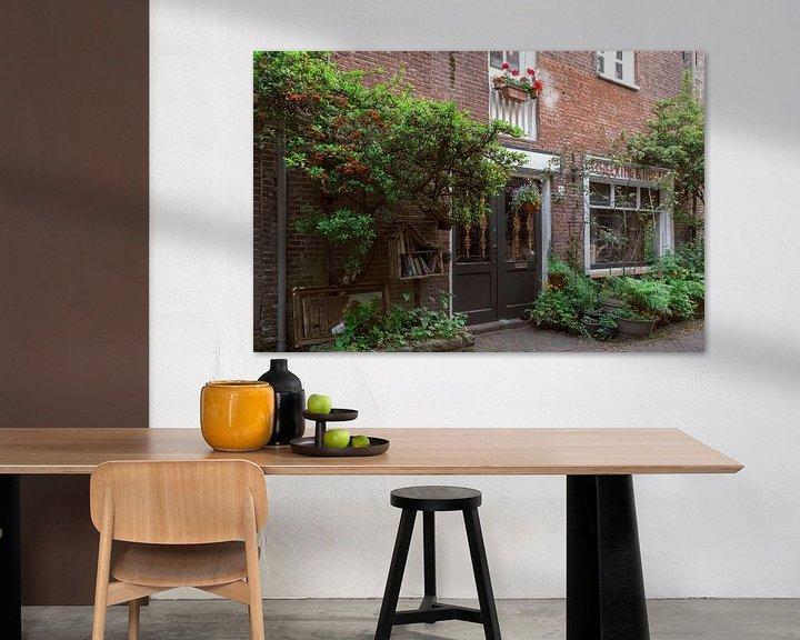 Impression: Ruelle de Haarlems I Nature en ville I Noord-Holland I Photographie ancienne sur Floris Trapman