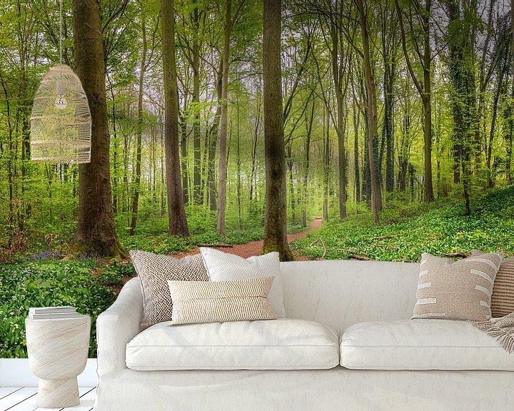 Sfeerimpressie behang: Enjoy the nature van Wim van D