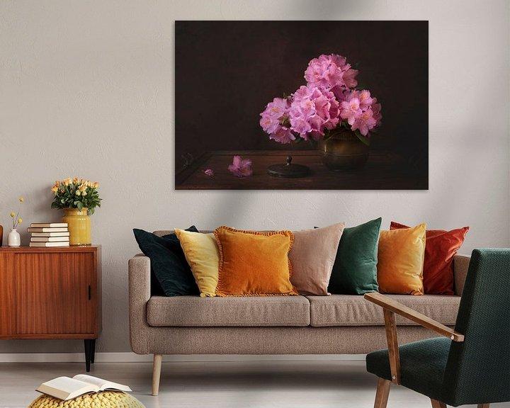 Impression: Nature morte florale, Rhododendron sur Joske Kempink