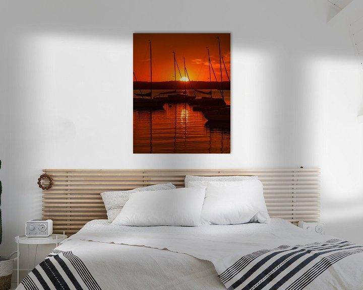Beispiel: Sonnenuntergang in Herrsching am Ammersee von Einhorn Fotografie