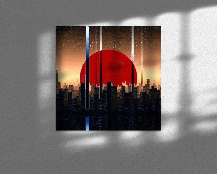 Sfeerimpressie: Abstract Cityscape van Maurice Dawson