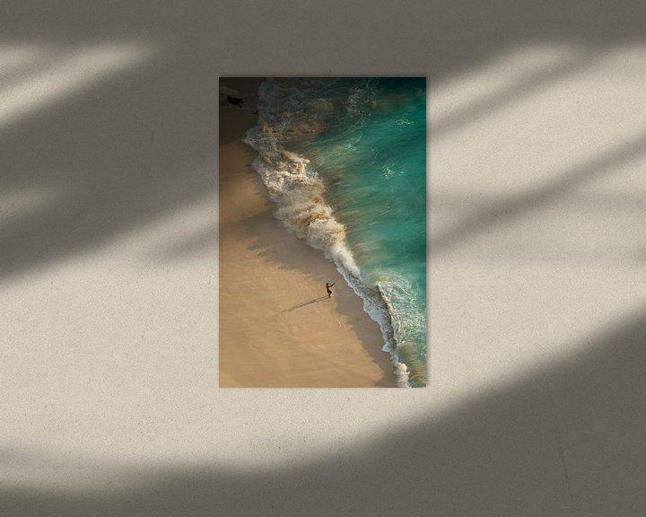 Impression: Pêche en mer agitée - Plage de Kelingking sur Ellis Peeters