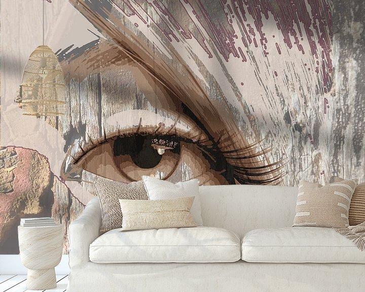 Beispiel fototapete: Tapferes Auge von Marijke Mulder