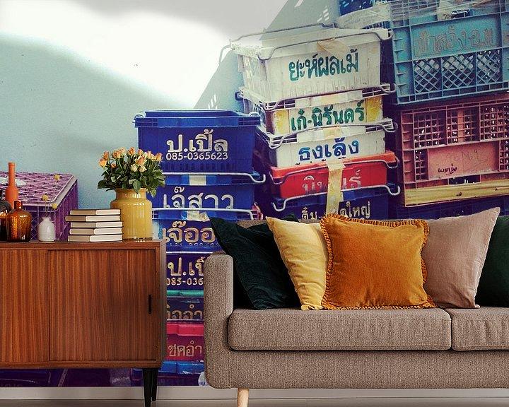 Sfeerimpressie behang: Boxen Thailand van Pünktchenpünktchen Kommastrich