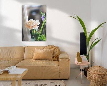 Weiße Rose in der Küche von Wendy Boon
