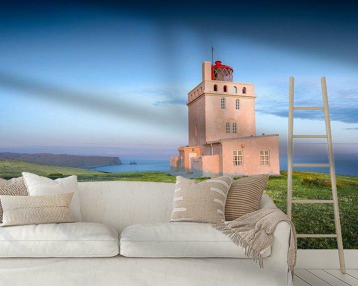 Beispiel fototapete: Dyrhólaey Leuchtturm von FineArt Prints | Zwerger-Schoner |