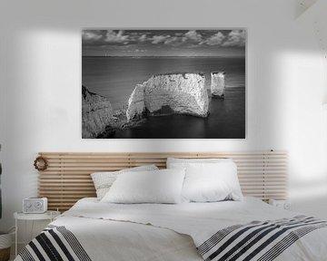 Old Harry Rocks in zwart-wit van Henk Meijer Photography