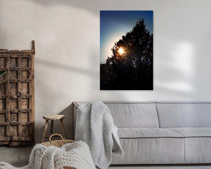 Sfeerimpressie: Ondergaande zon van Jan van der Knaap