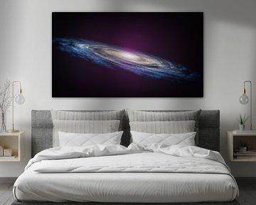 Art spatial d'une galaxie en spirale. Illustration 3D sur Markus Gann