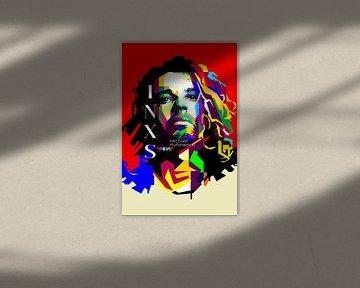 Michael Hutchence Pop Art WPAP van Fariza Abdurrazaq
