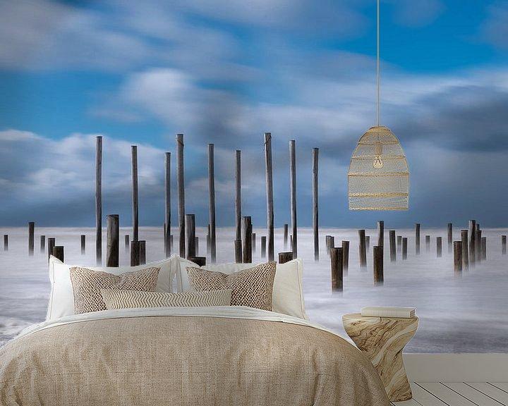 Sfeerimpressie behang: Strand Petten  van Dick van der Wilt