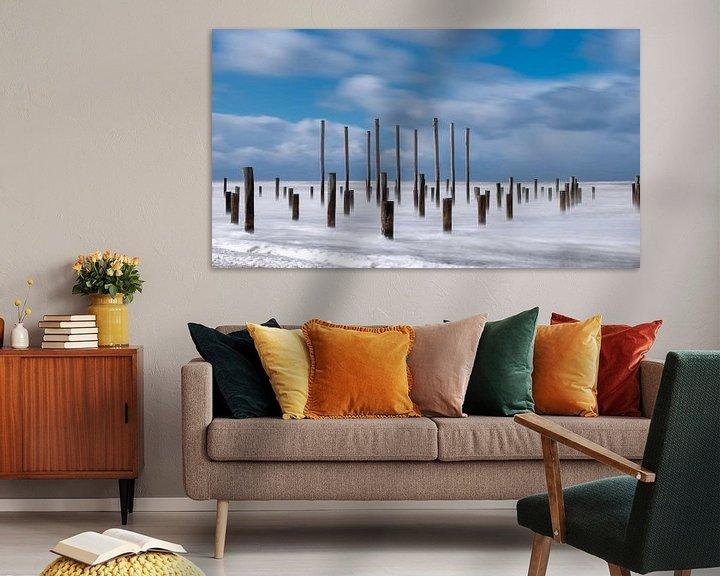 Sfeerimpressie: Strand Petten  van Dick van der Wilt