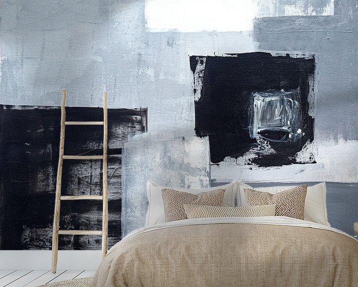 Sfeerimpressie behang: Grijs veld van Claudia Färber