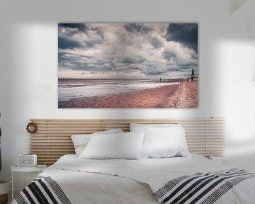 Strand bei Ebbe von Cuxhaven an der deutschen Nordseeküsteküste von Jakob Baranowski - Off World Jack