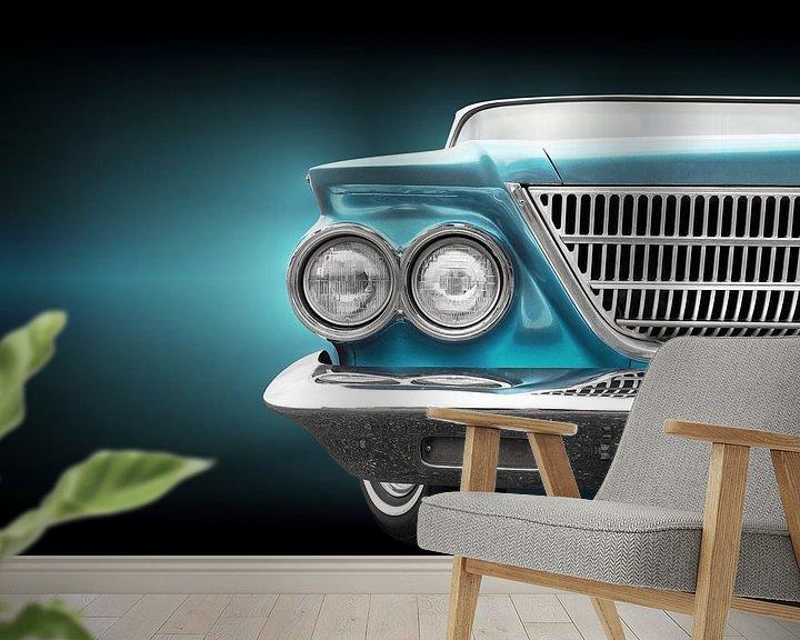 Sfeerimpressie behang: Amerikaanse oldtimer 1963 Newport Sedan van Beate Gube