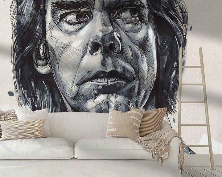 Beispiel fototapete: Nick Cave Gemälde von Jos Hoppenbrouwers