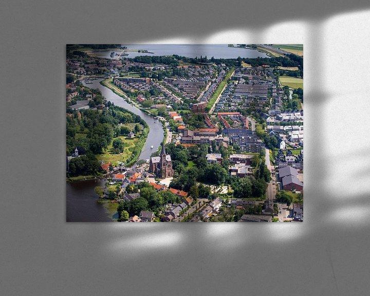 Beispiel: Ouderkerk von oben von Inge Wiedijk