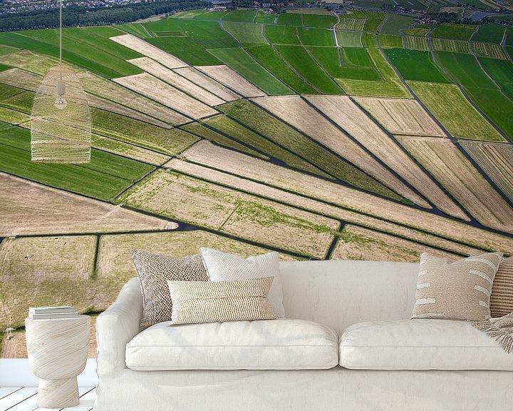 Sfeerimpressie behang: Ouderkerk van boven van Inge Wiedijk