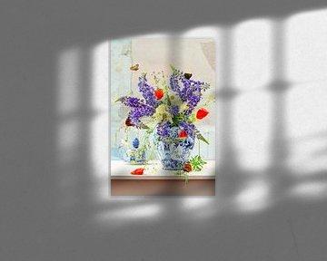 Stilleven 'wilde lupinen' van Willy Sengers