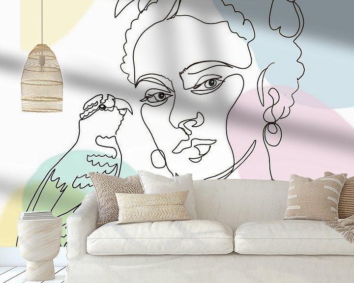 Beispiel fototapete: Fridas Papagei von christine b-b müller