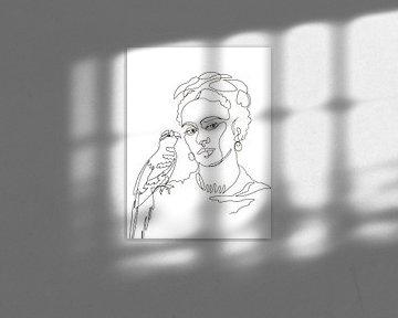 Frida mit Papagei von christine b-b müller
