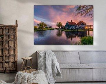 Sonnenaufgang in der Zaanse Schans von Henk Meijer Photography