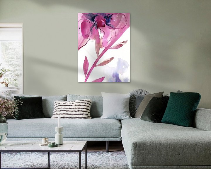 Sfeerimpressie: Pink Floral van Brigitte Bazuin