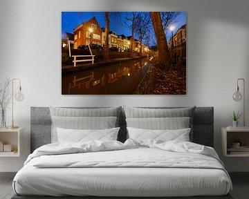 Nieuwegracht in Utrecht tussen de Quintijnsbrug en de Magdalenabrug von Donker Utrecht