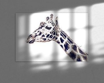 Andy Warhol Pop Art - Art Style Giraffe van Jakob Baranowski - Off World Jack
