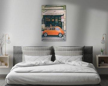 Fiat 500, voiture italienne classique, garée en ville sur Sjoerd van der Wal