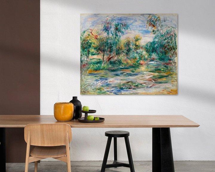 Sfeerimpressie: landschap, Renoir 1917 van Atelier Liesjes