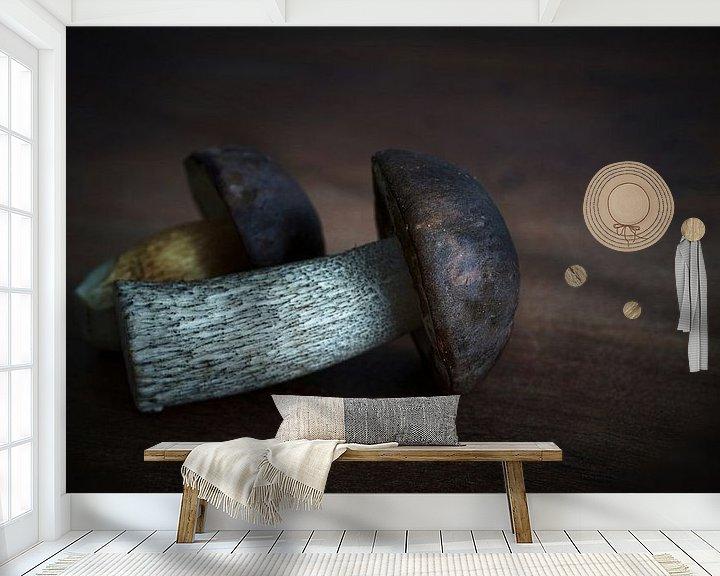 Impression: Champignon de bouleau et bolet de châtaignier sur Heiko Kueverling